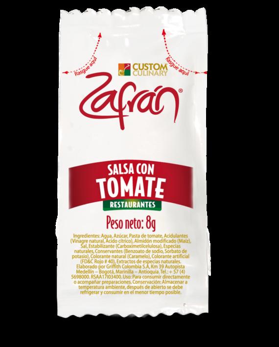 salsa con tomate en sobre personal para restaurantes