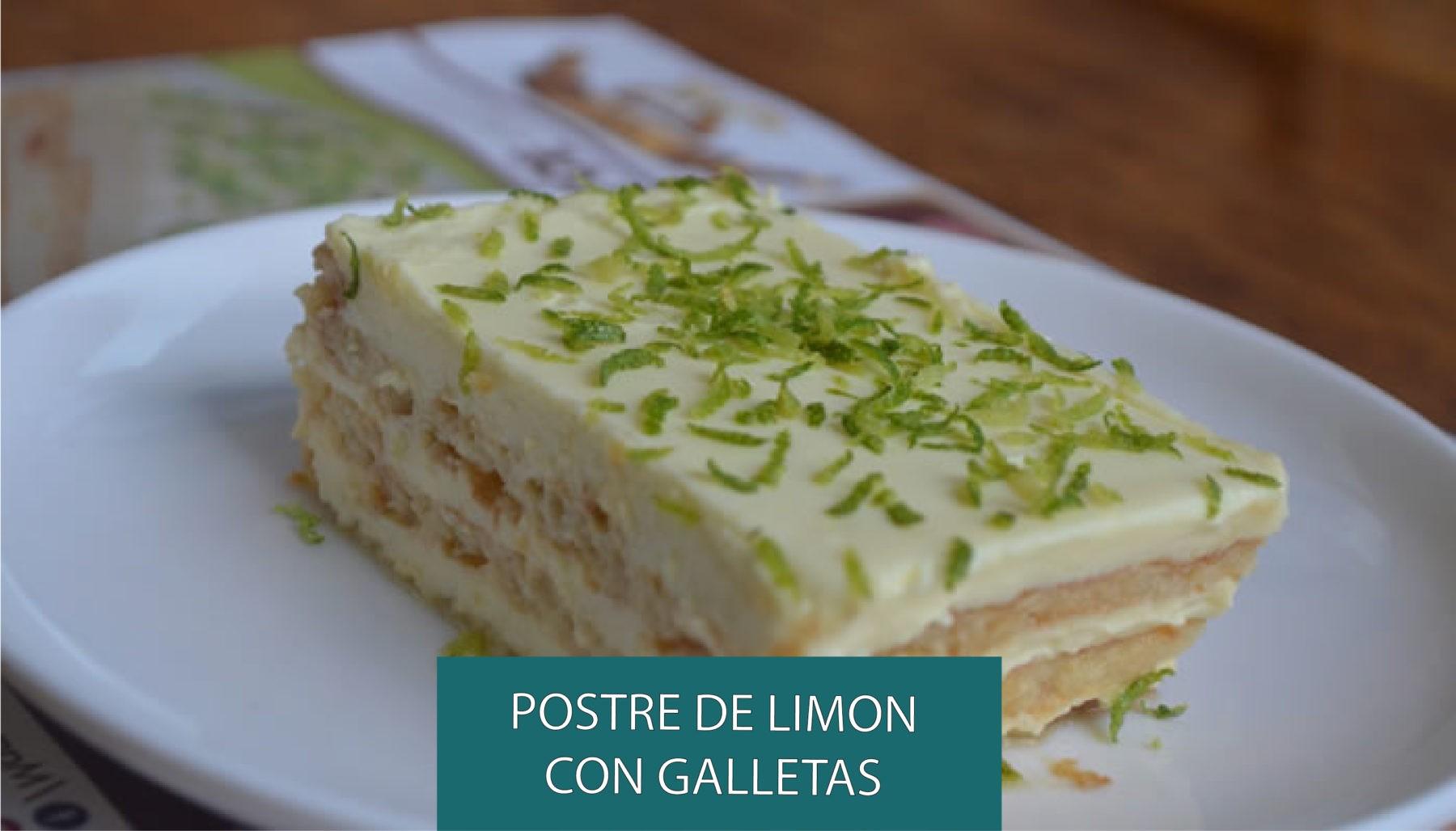 Receta De Postre De Limon Con Galletas Maria Recetas Vinzeta
