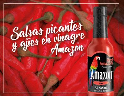 salsas picantes y ajíes en vinagre Amazon